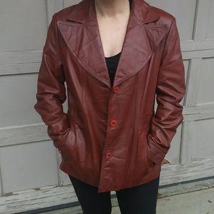 Vintage Wilsons Brown Genuine Leather Jacket